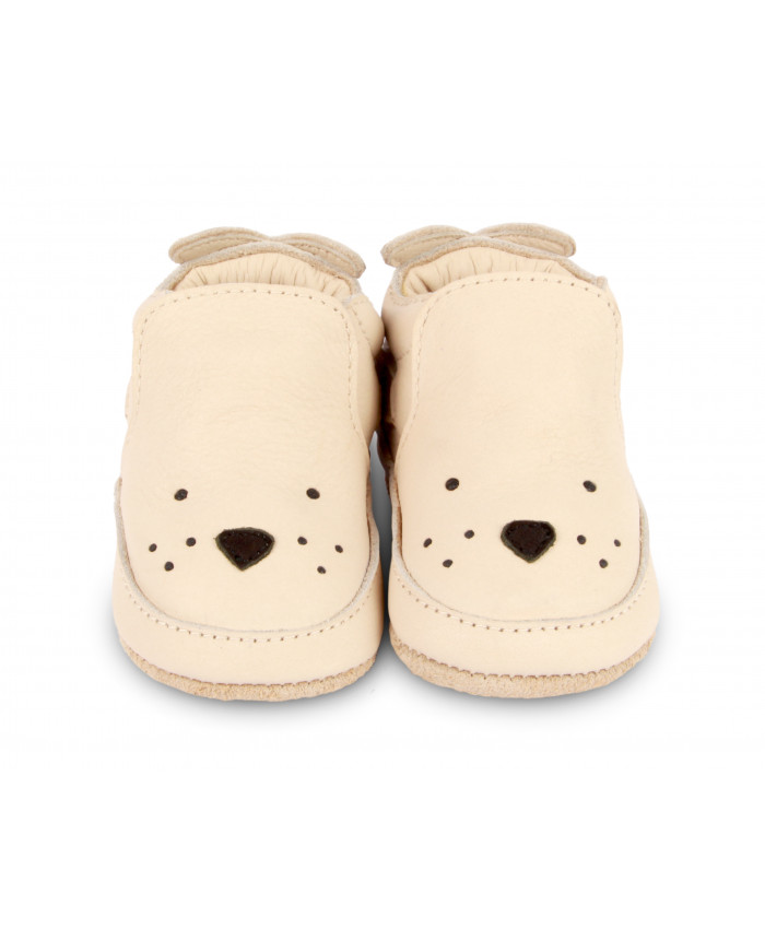 Donsje  Amsterdam Arty Seal Baby Shoes  Cream Leather